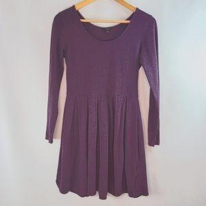 Talula Long Sleeves plum purple flare dress